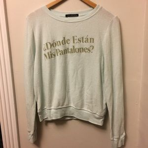 """Wildfox """"where are my pants"""" jumper NWOT"""